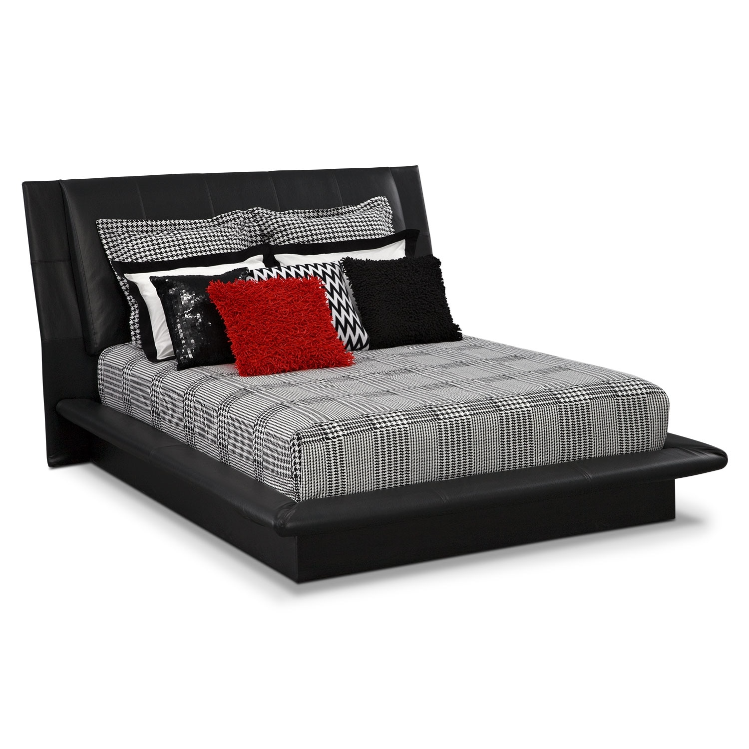 Accent and Occasional Furniture - Houndstooth King Bedding Set