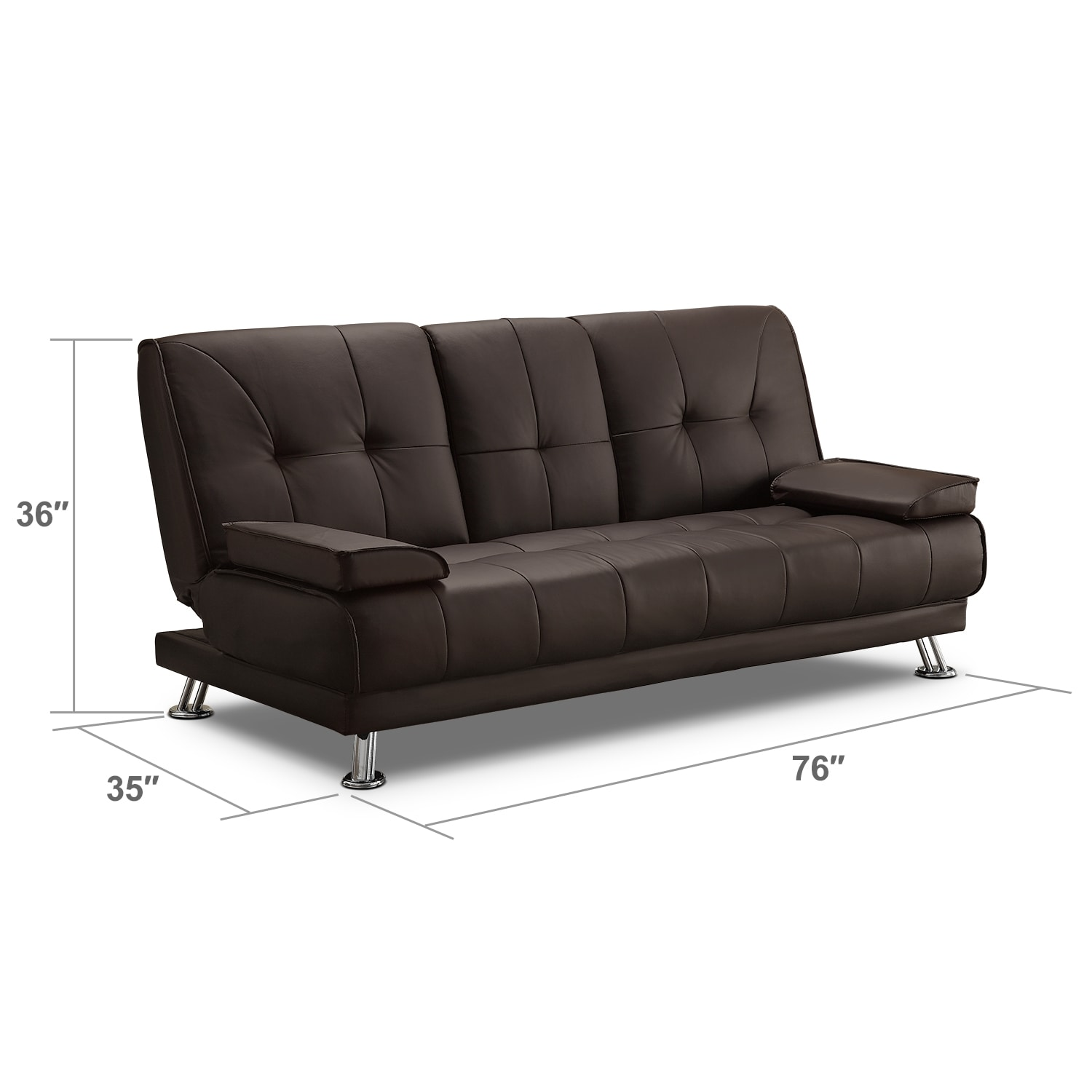 Living Room Furniture - Flash Futon Sofa Bed