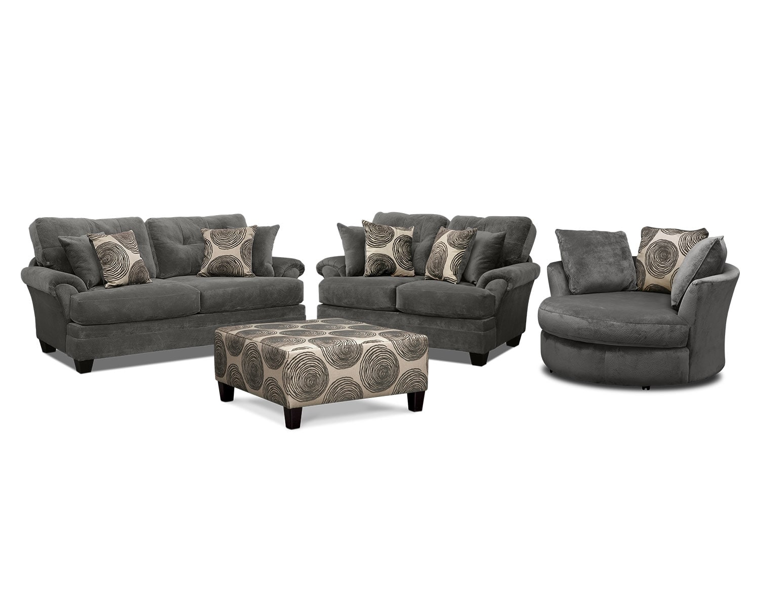 The Cordelle Living Room Collection - Gray | Value City Furniture ...