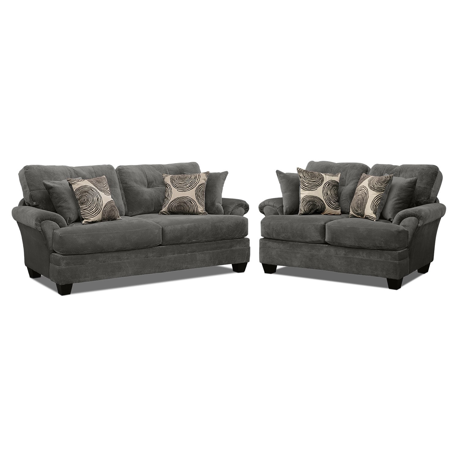 Sectional Gray Sofa Set: Cordelle Sofa And Loveseat Set - Gray