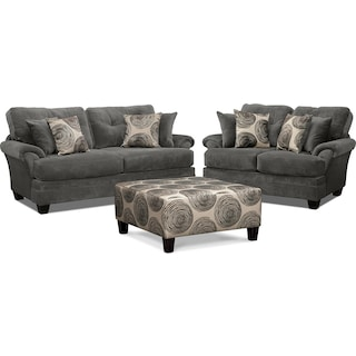 Cordelle Sofa, Loveseat and Cocktail Ottoman Set