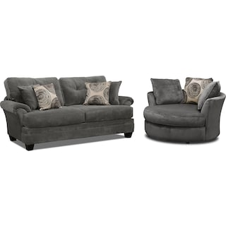 Cordelle Sofa and Swivel Chair Set