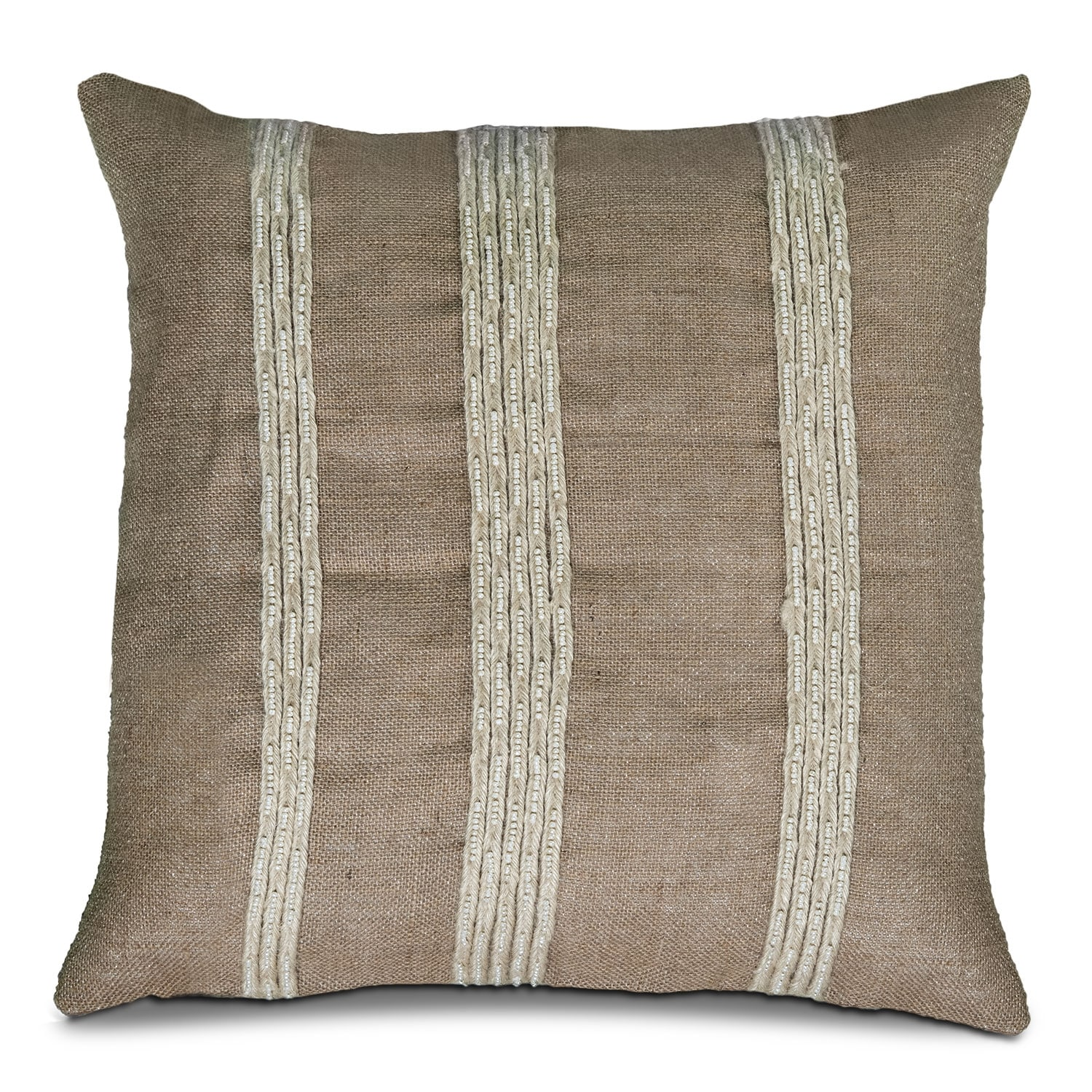 Accent and Occasional Furniture - Natural Stripes Decorative Pillow