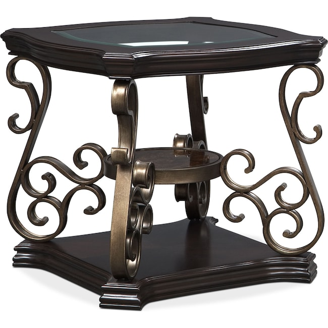 Accent and Occasional Furniture - Valencia End Table - Cherry
