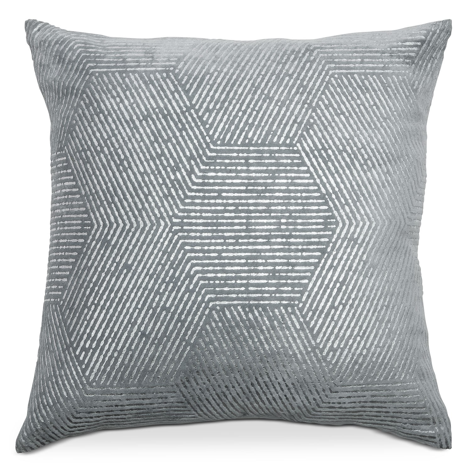 Poly Quilt Spa Gray Decorative Pillow