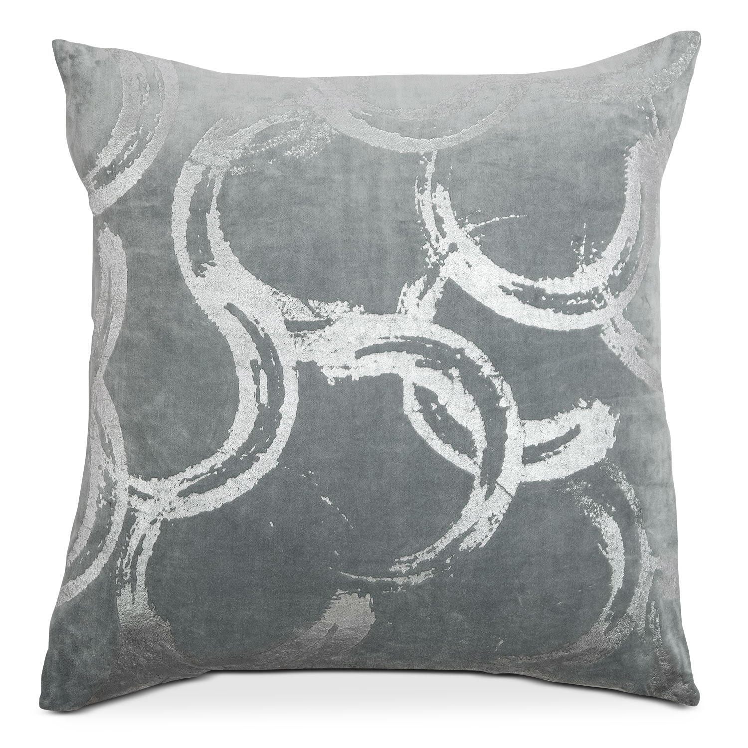Poly Quilt Spa Silver Decorative Pillow