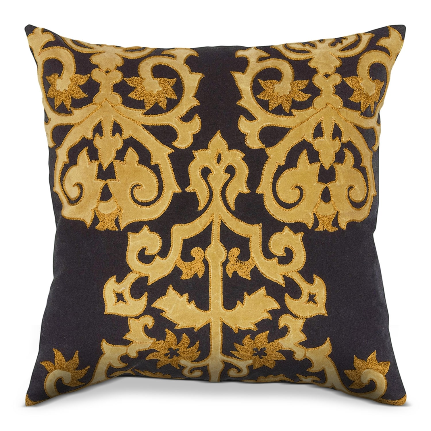Accent and Occasional Furniture - Tradewind Black Decorative Pillow