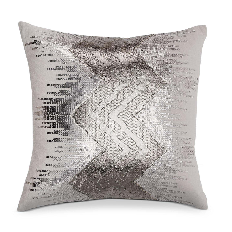 Accent and Occasional Furniture - Petal Blush Metallic Decorative Pillow