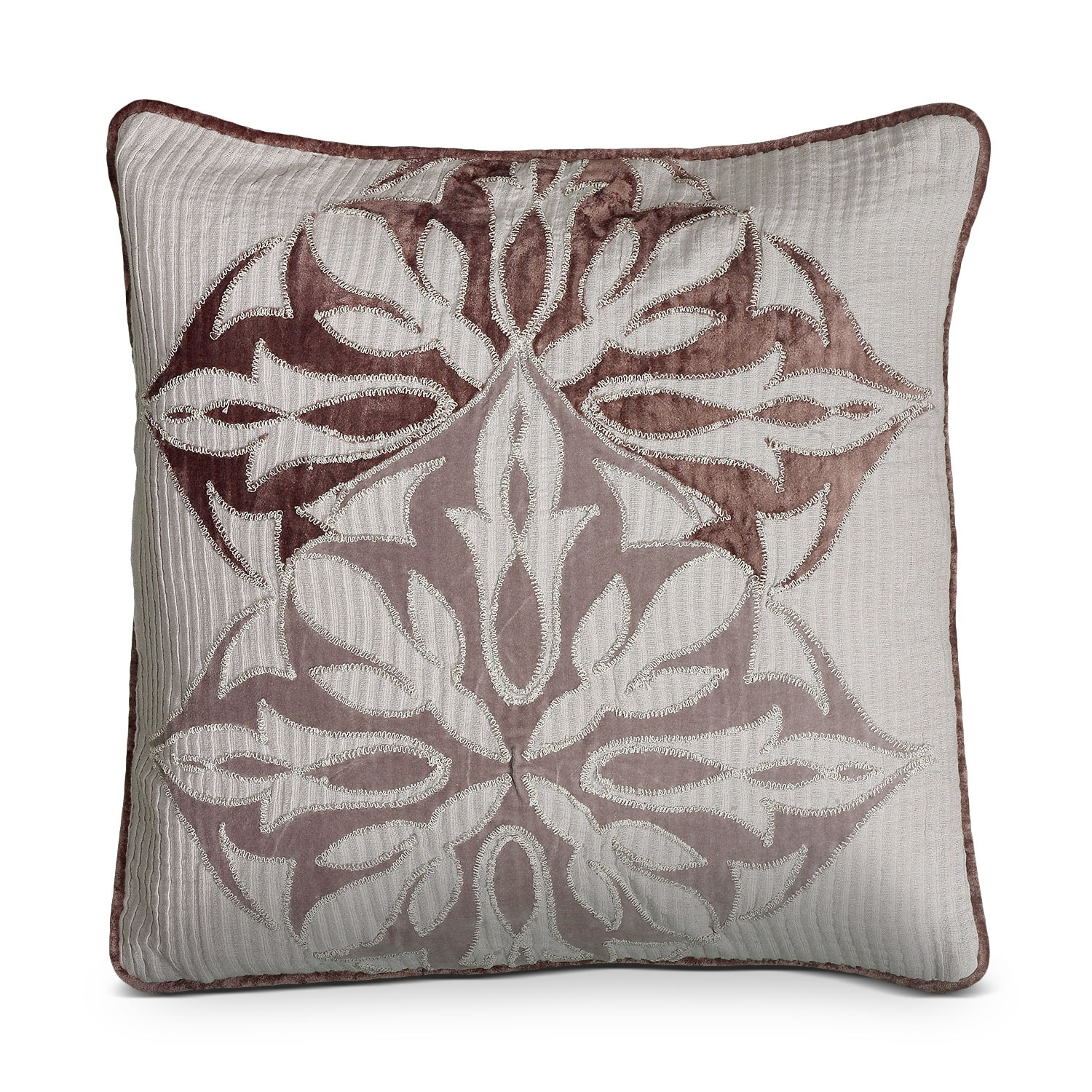 Petal Blush Plum Decorative Pillow