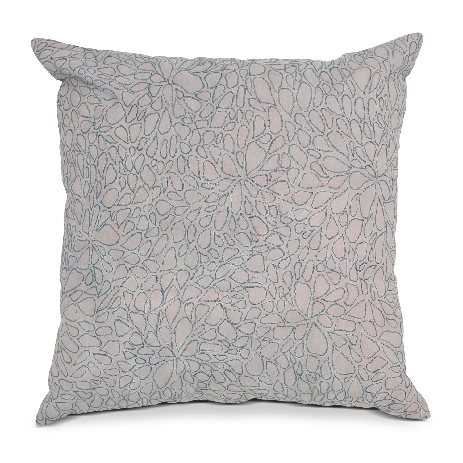 Petal Blush Gray Decorative Pillow