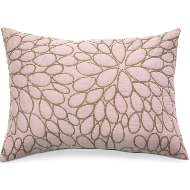 Accent and Occasional Furniture - Petal Blush Quilted Sham - Orchid and Brown