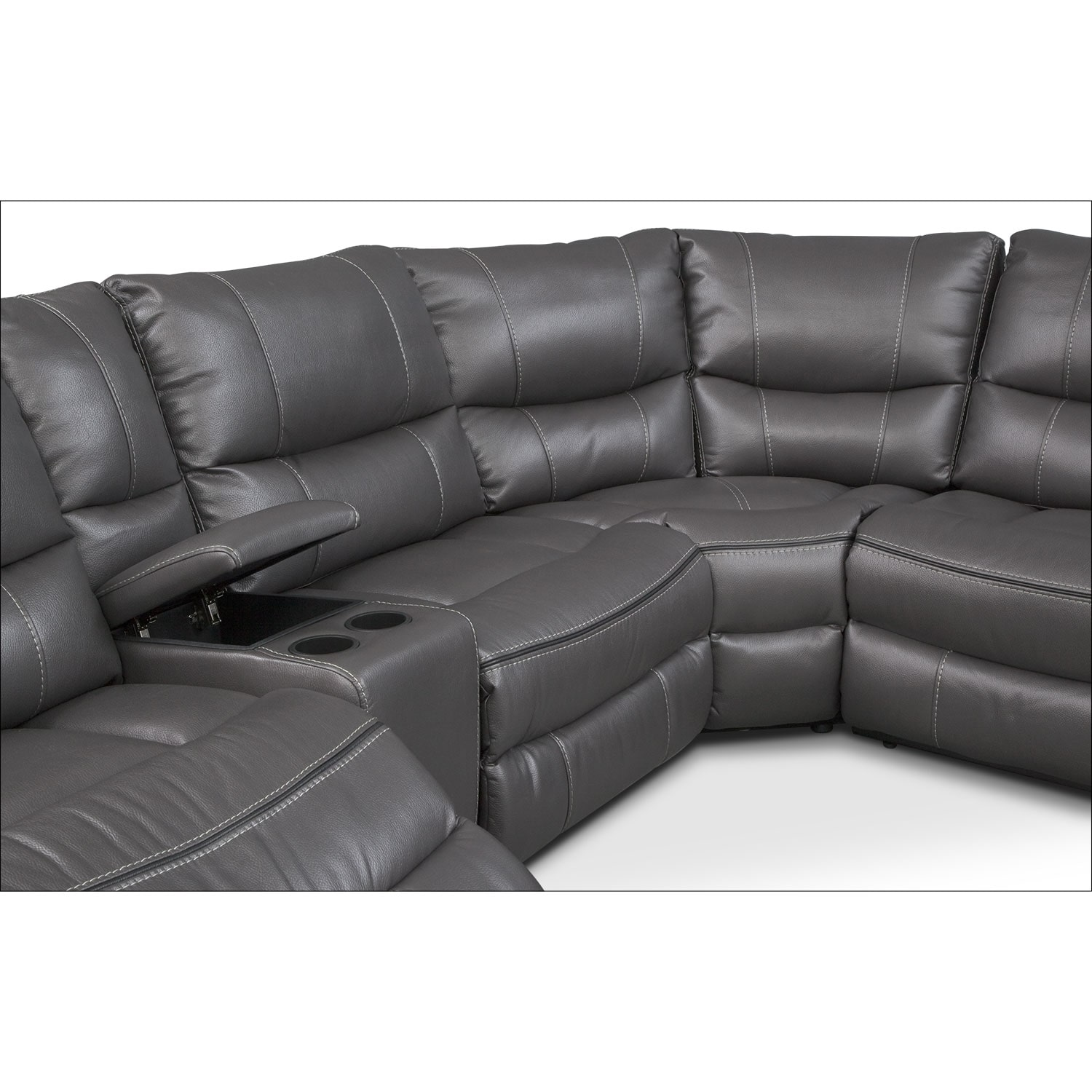 Living Room Furniture Orlando Orlando 6 Piece Power Reclining Sectional With 1 Stationary Chair