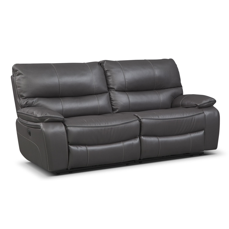 Merveilleux Living Room Furniture   Orlando Power Reclining Sofa   Gray