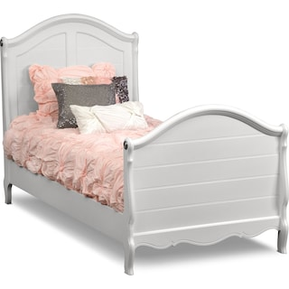 Carly Full Bed - White