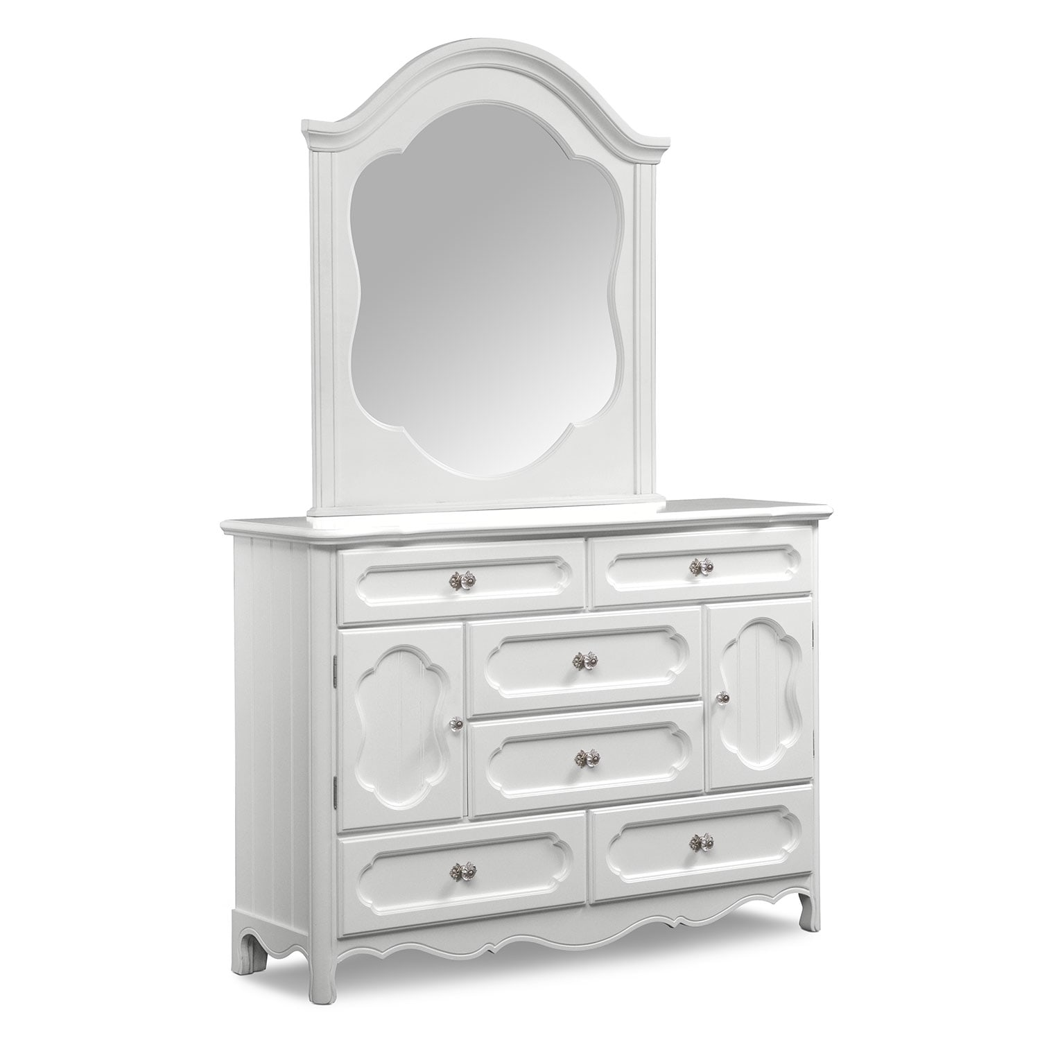 Awesome Carly Dresser And Mirror   White
