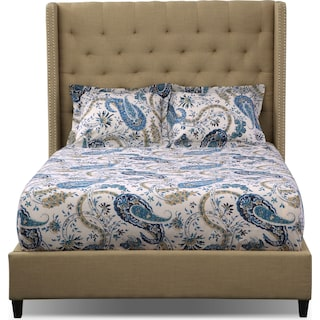 Paisley 3-Piece Queen Comforter Set - Navy and Ivory