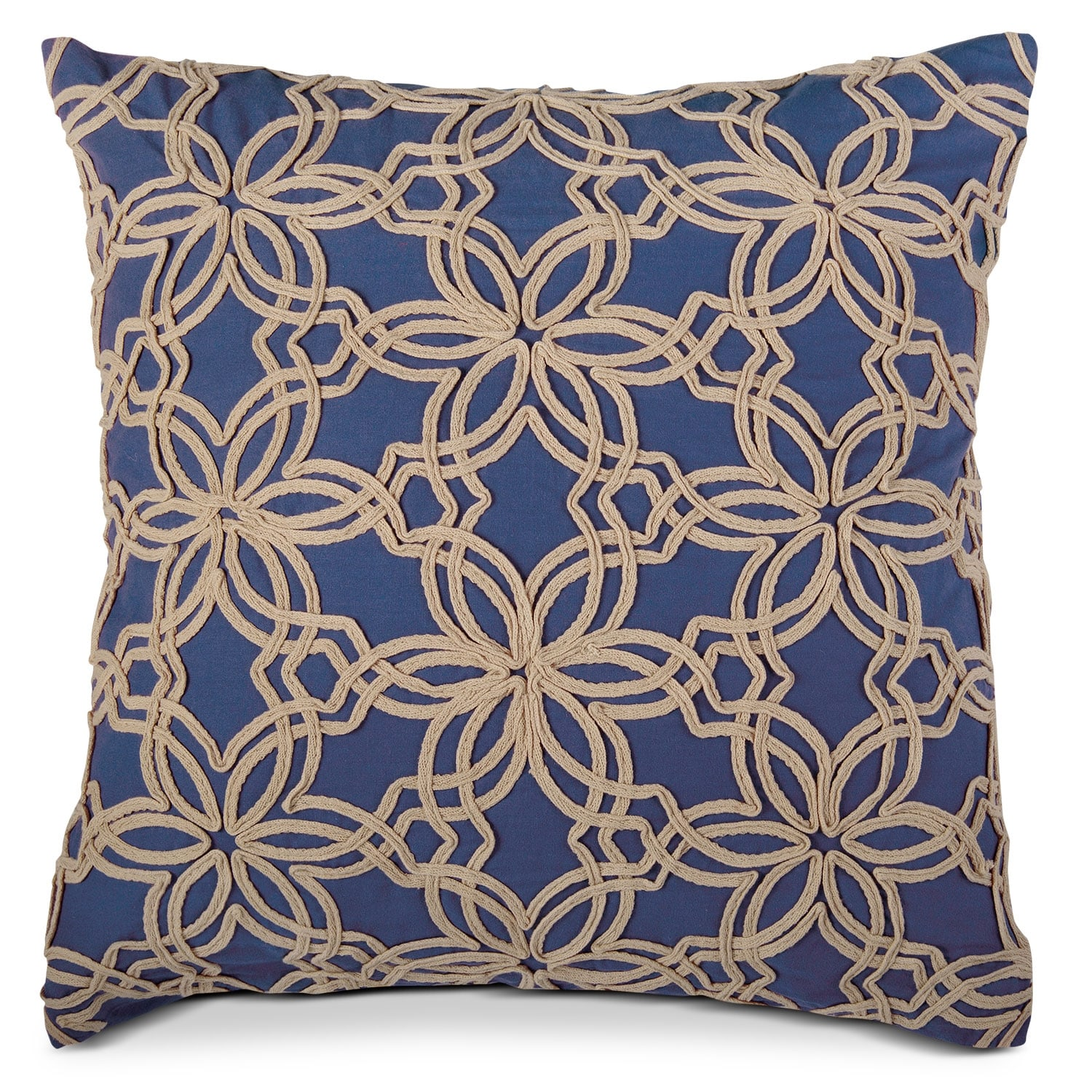 Accent and Occasional Furniture - Paisley Jute Decorative Pillow