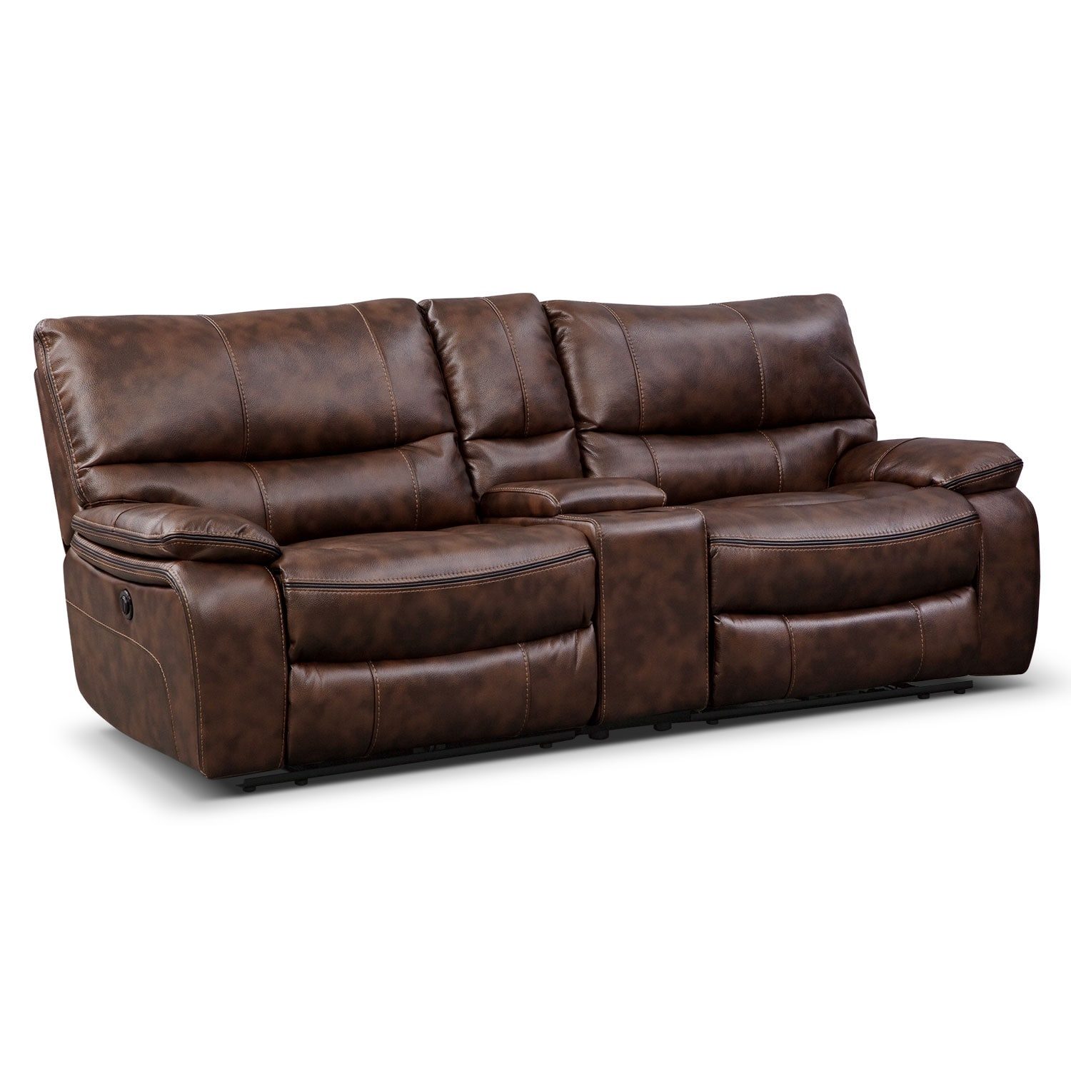 Peachy Orlando Power Reclining Sofa With Console Pabps2019 Chair Design Images Pabps2019Com