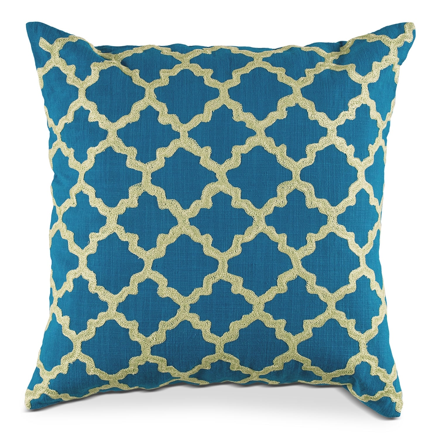 Accent and Occasional Furniture - Madaline Marie Blue Decorative Pillow