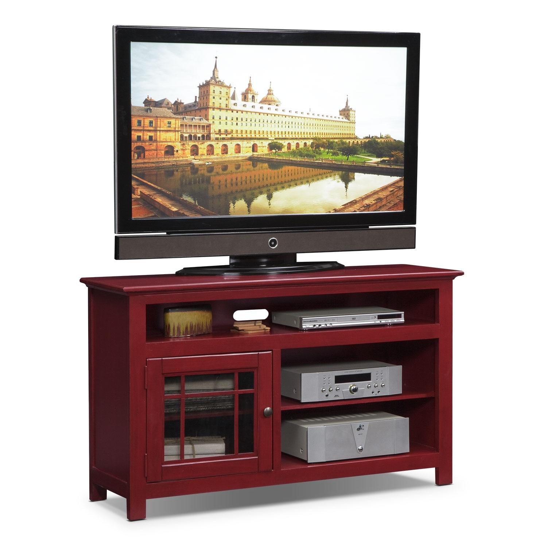 """Merrick Red 54"""" TV Stand"""