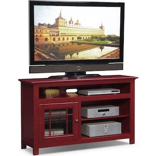 """Merrick 54"""" TV Stand - Red"""