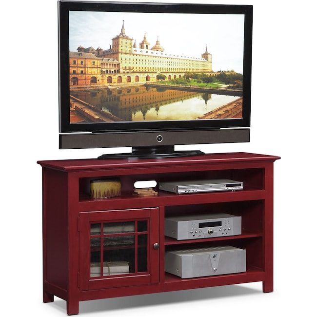 Merrick 54 Tv Stand Red Value City Furniture And Mattresses