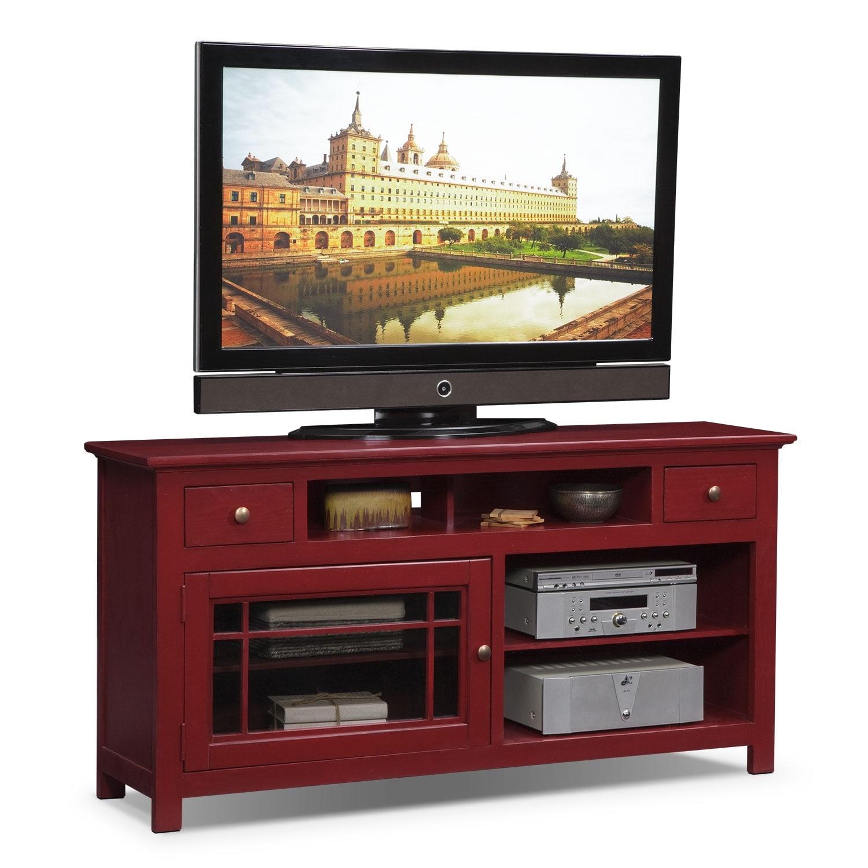 """Merrick Red 64"""" TV Stand"""