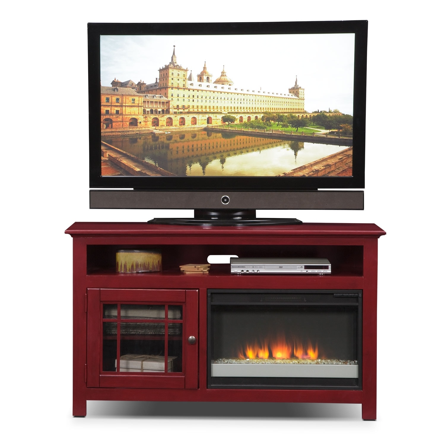 """Merrick 54"""" Fireplace TV Stand With Contemporary Insert"""