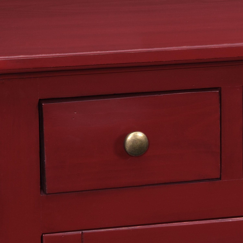 """Merrick Red 74"""" TV Stand"""