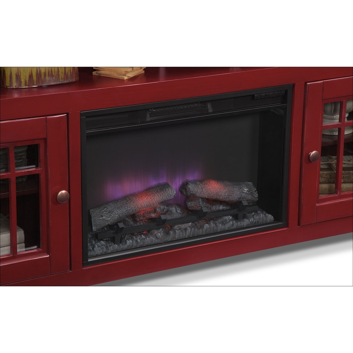 """Merrick 74"""" Fireplace TV Stand With Traditional Insert"""