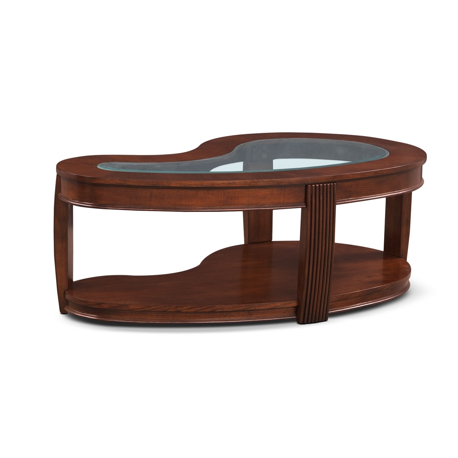 Accent and Occasional Furniture - Teardrop Cocktail Table - Burnt Umber