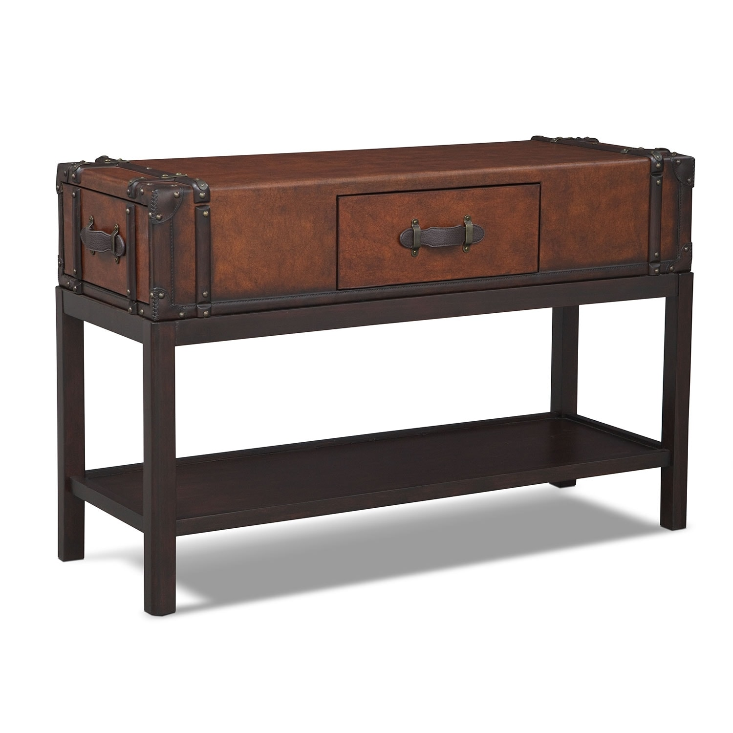 Accent and Occasional Furniture - Expedition Sofa Table - Brown