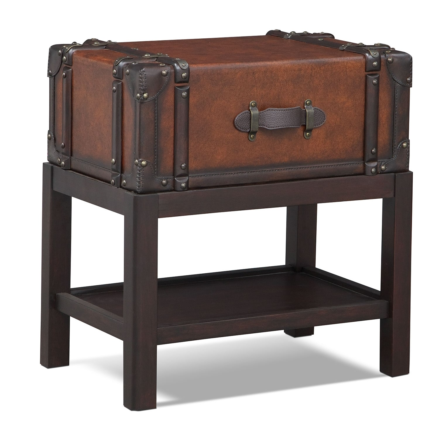 Expedition Chairside Table - Brown