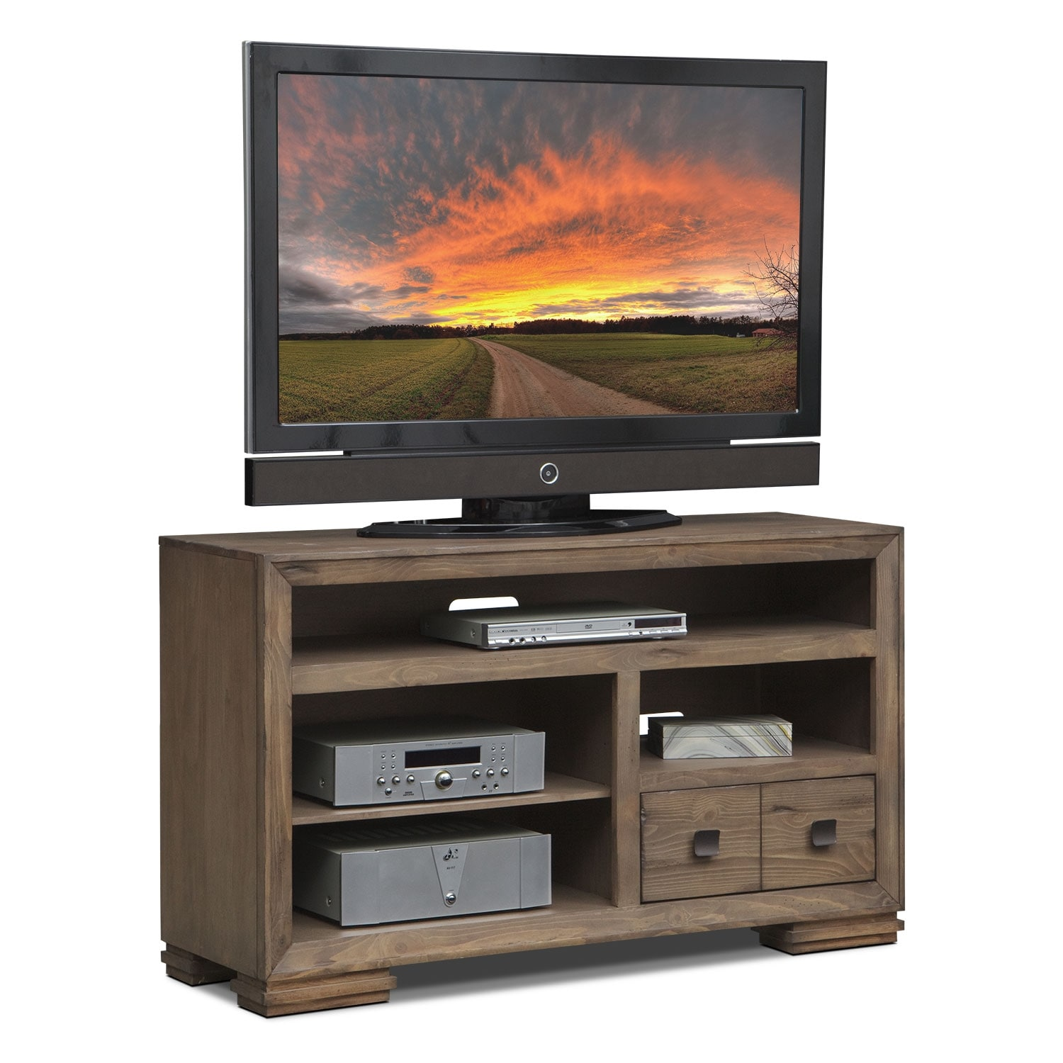 "Mesa 54"" TV Stand - Distressed Pine"