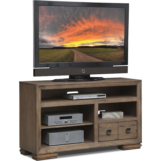 "Entertainment Furniture - Mesa 54"" TV Stand - Distressed Pine"