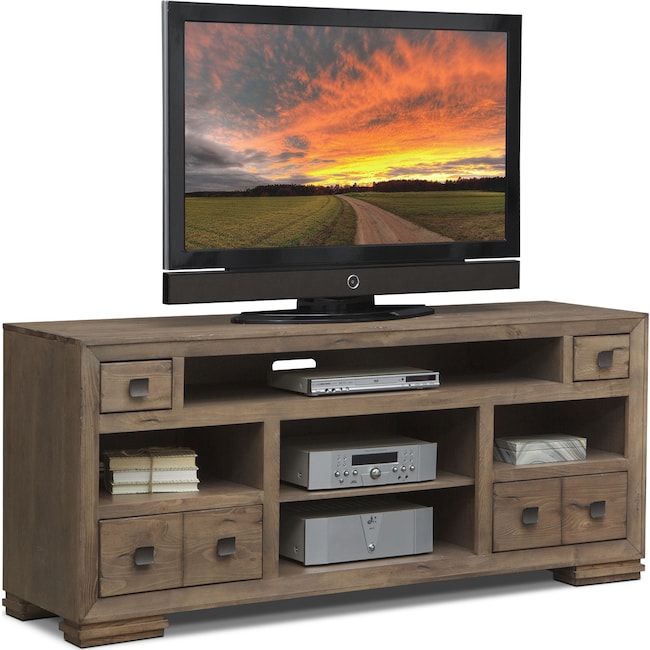 "Entertainment Furniture - Mesa 74"" TV Stand - Gray"