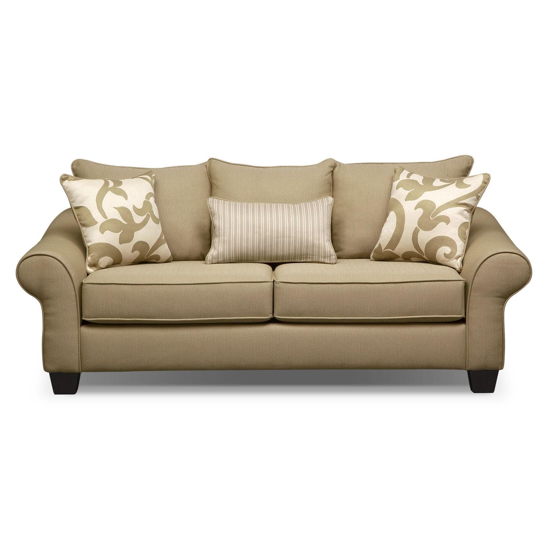 Colette Full Memory Foam Sleeper Sofa Khaki