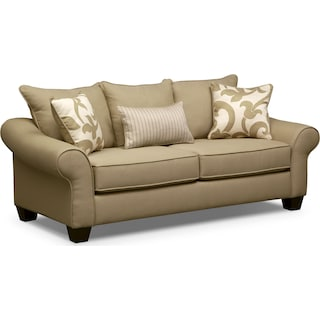 Colette Full Innerspring Sleeper Sofa - Khaki