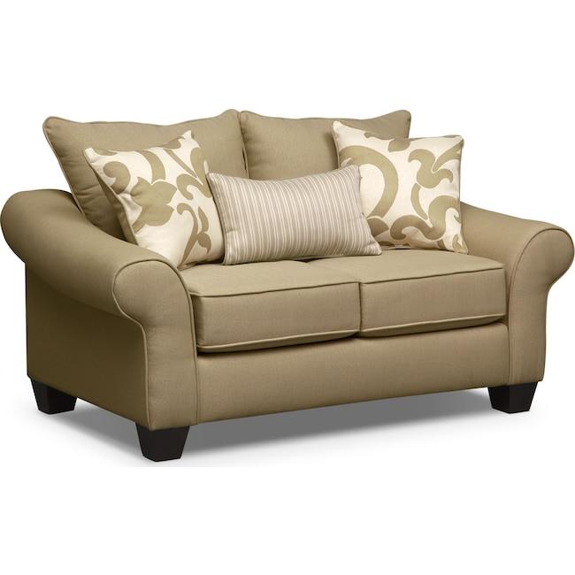 Living Room Furniture - Colette Loveseat - Khaki