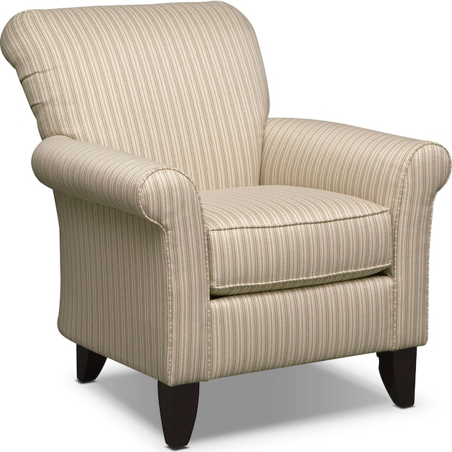 Living Room Furniture - Colette Accent Chair - Khaki