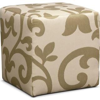 Colette Cube Ottoman - Khaki