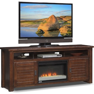 "Prairie 74"" Fireplace TV Stand  with Contemporary Insert - Mesquite Pine"