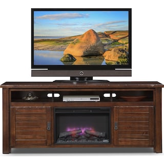 Prairie Fireplace TV Stand