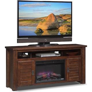 Prairie Fireplace TV Stand