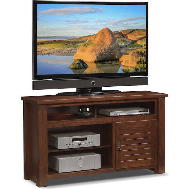"Entertainment Furniture - Prairie 54"" TV Stand - Mesquite Pine"