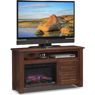 "Prairie 54"" Fireplace TV Stand with Traditional Insert - Mesquite Pine"