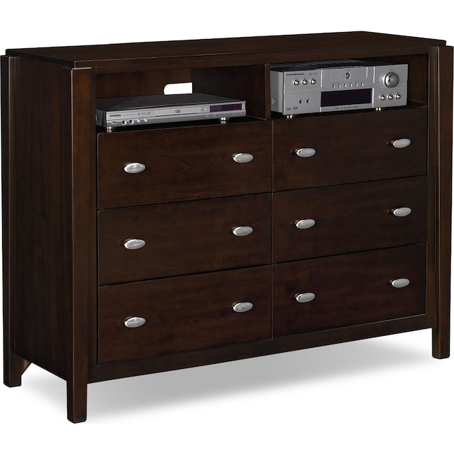 Bedroom Furniture - Mosaic Media Chest - Dark Brown
