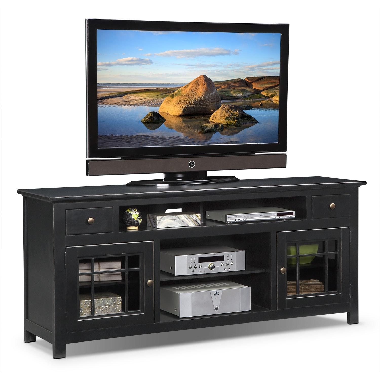 """Merrick Black 74"""" TV Stand"""