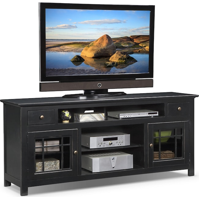 "Entertainment Furniture - Merrick 74"" TV Stand - Black"