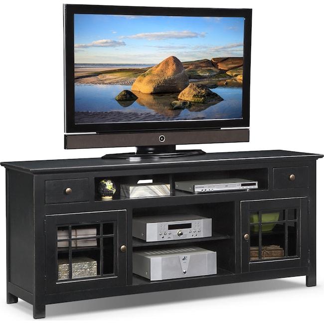 "Entertainment Furniture - Merrick 74"" TV Stand - Black"